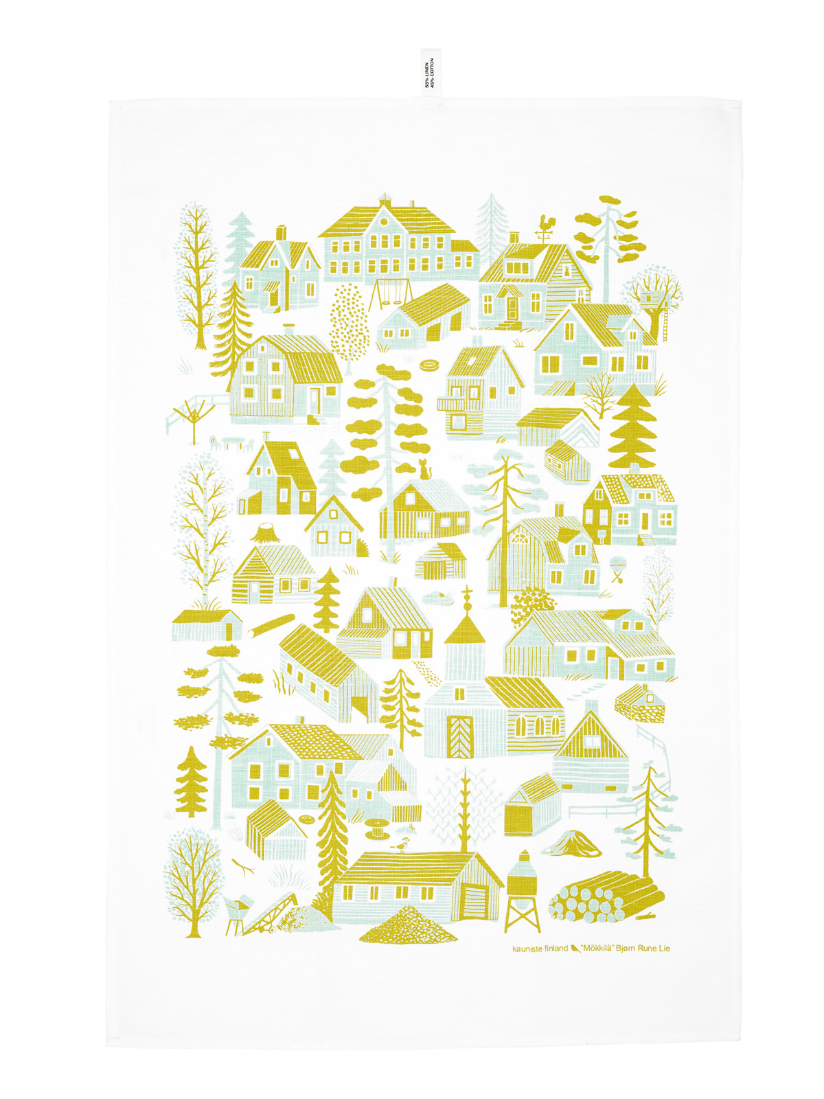 Mokkila yellow Kitchen towel