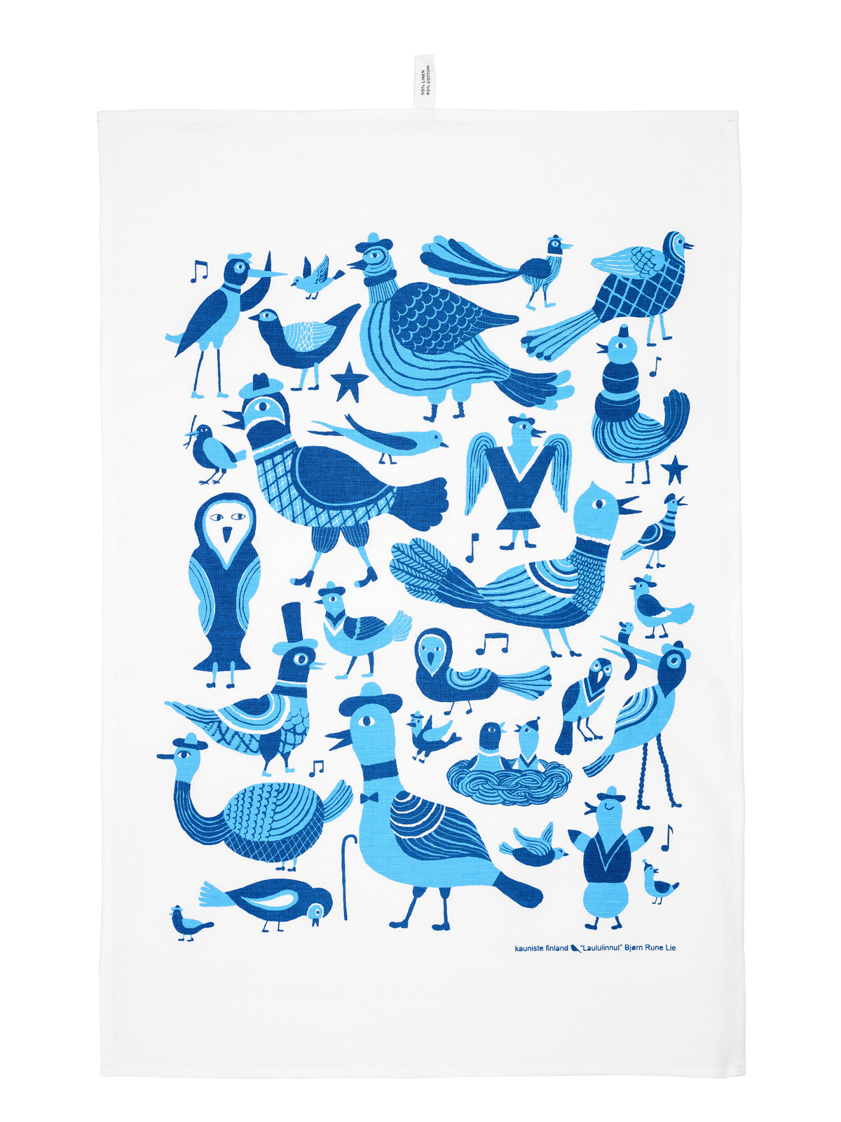 Laululinnut blue Kitchen towel